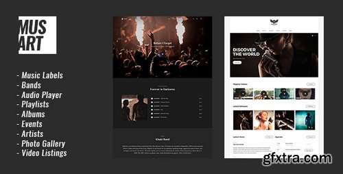 ThemeForest - Musart v1.0.1 - Music Label and Artists WordPress Theme - 20890063