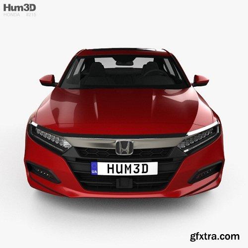 Honda Accord Sport US sedan 2018 3d model