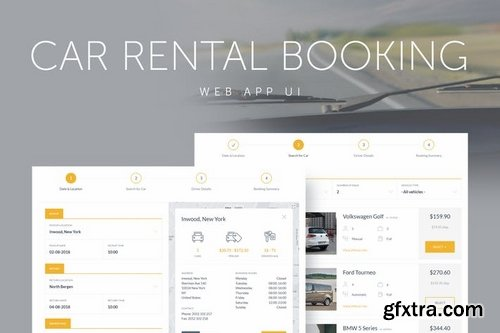 Chauffeur and Car Rental Booking  System Web App UI