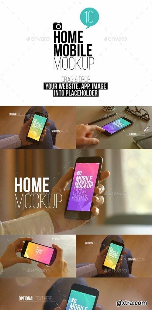 GraphicRiver - Home Mobile Mockup 19208146