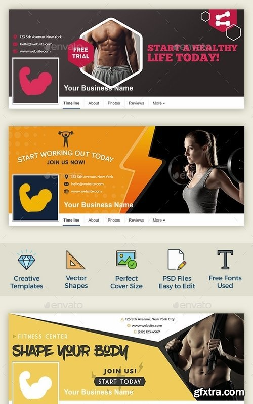 GraphicRiver - Fitness Facebook Cover 16383006