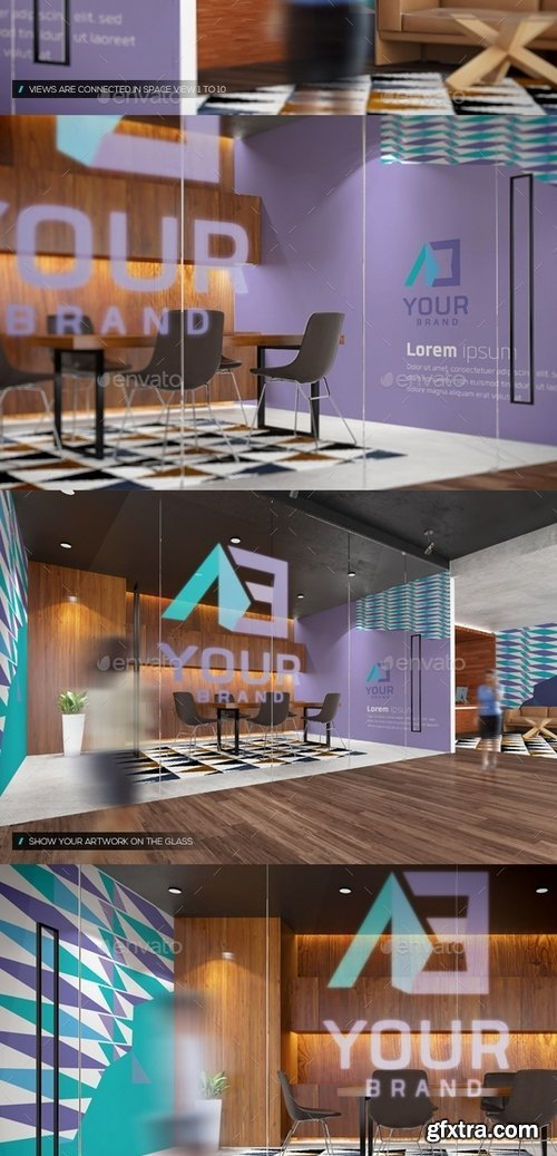 GraphicRiver - Office Interior Branding Mockups V3 14008658