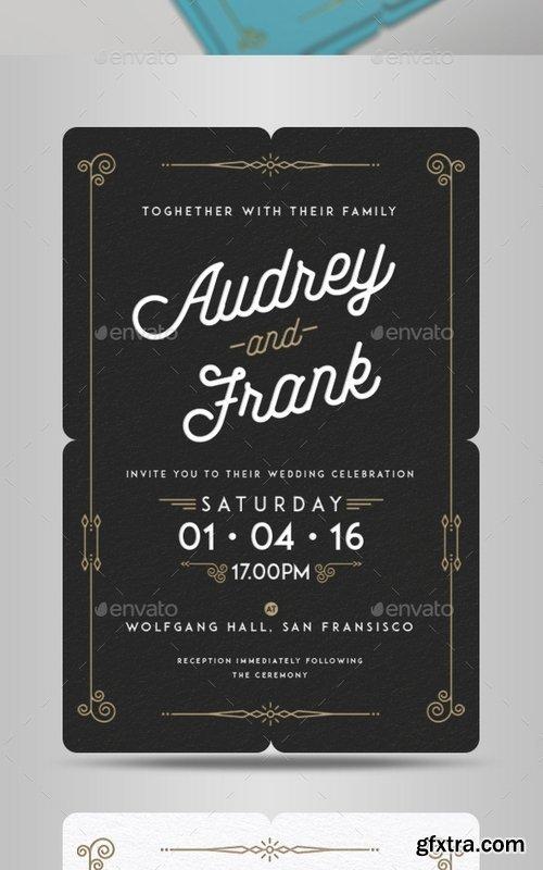 GraphicRiver - Letterpress Wedding Invitation 14145268
