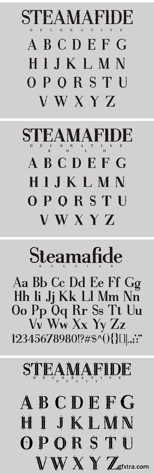 Steamafide Font Family