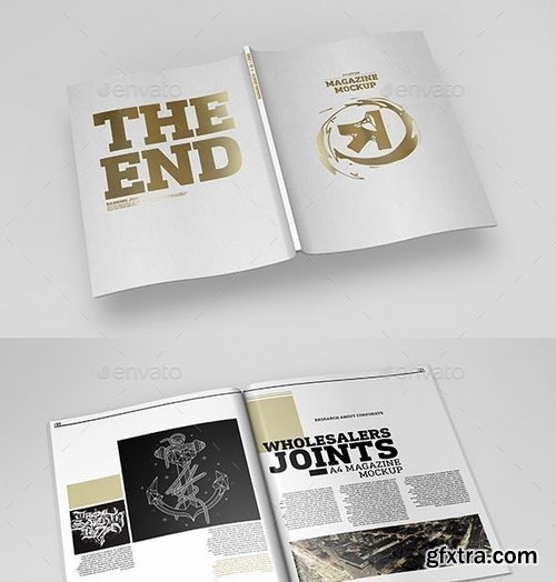GraphicRiver - A4 Magazine Catalog Mockup 10636324