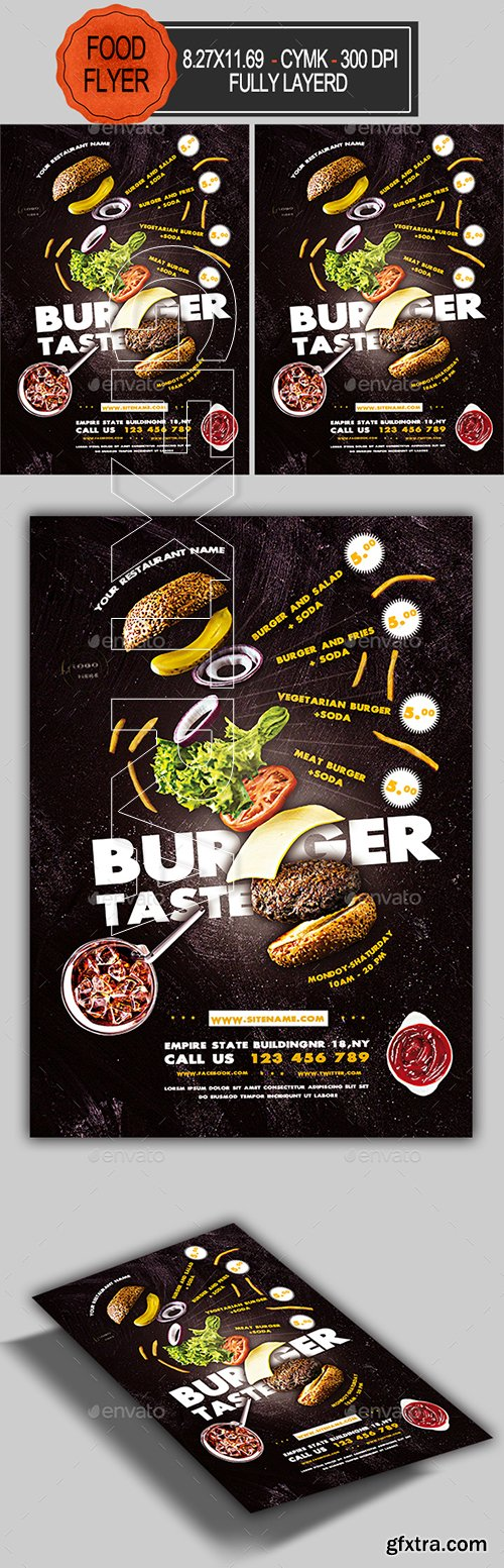 GraphicRiver - Burger Flyer 22357486