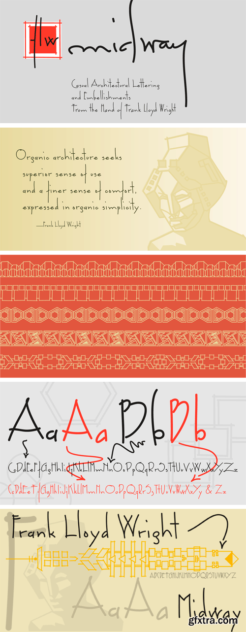 FLW Midway Font Family