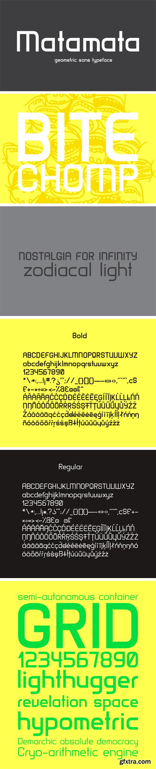 Matamata Typeface