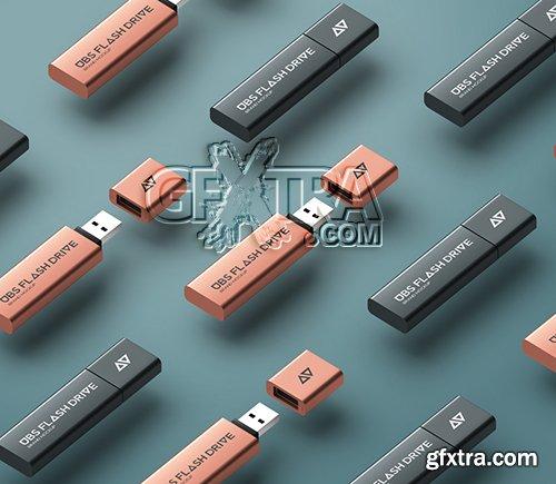 Psd Usb Flash Drive Brand Mockup