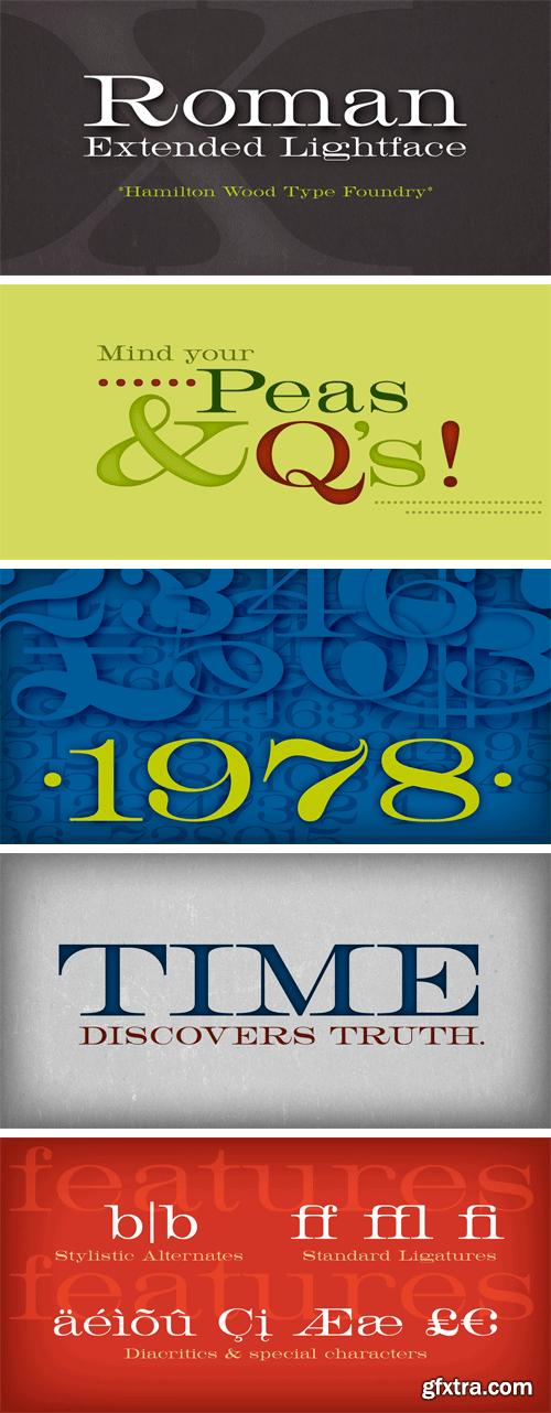 HWT Roman Extended Lightface Font