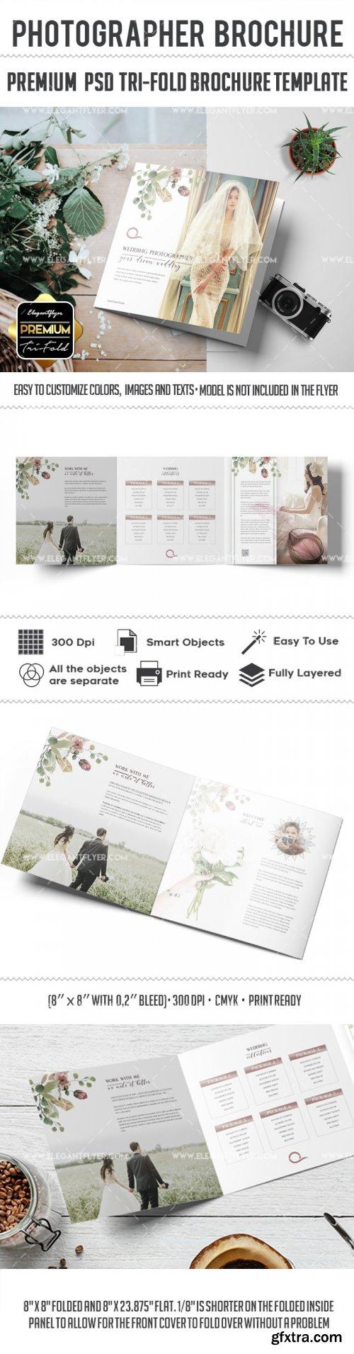 Wedding Photographer v3 2018 Tri-Fold Brochure PSD Template