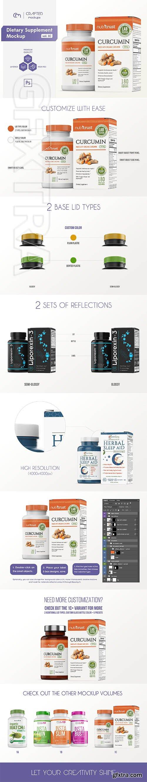 Dietary Supplement Mockup v 1C