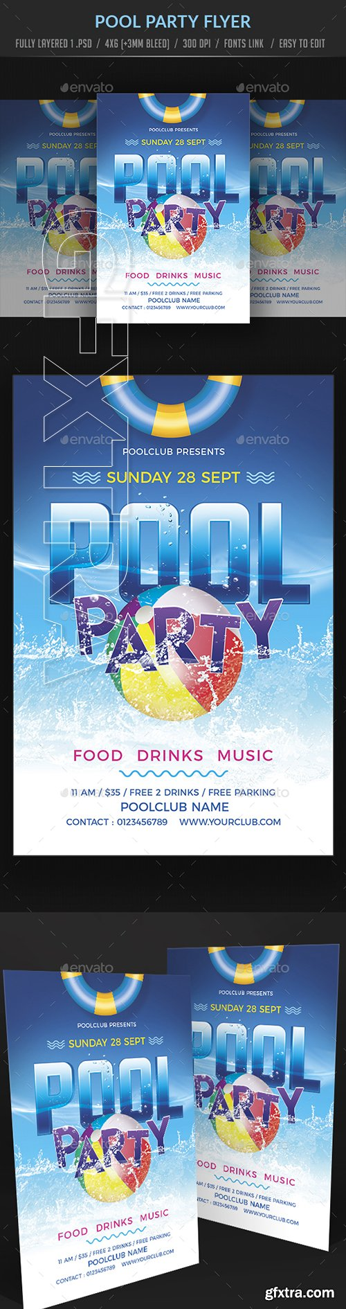 GraphicRiver - Pool Party Flyer 22355864