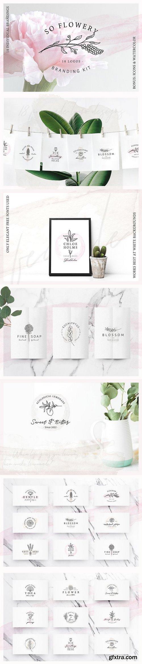 CM - So Flowery Branding Kit+Watercolours 2311711