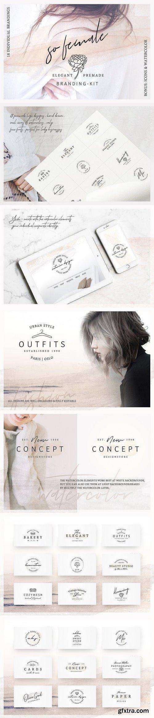 CM - So Female Branding Kit +Watercolours 2207493