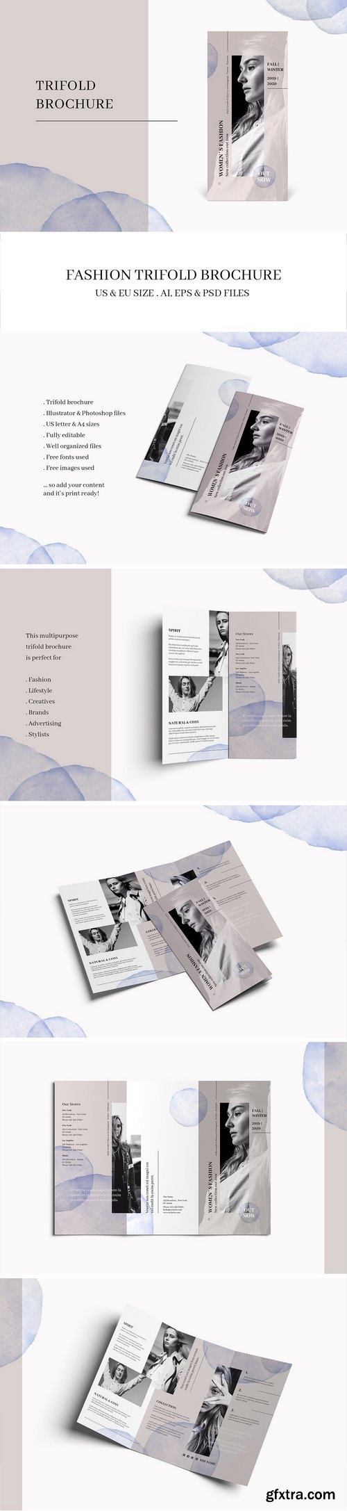 CM - FASHION Trifold Brochure 1840588
