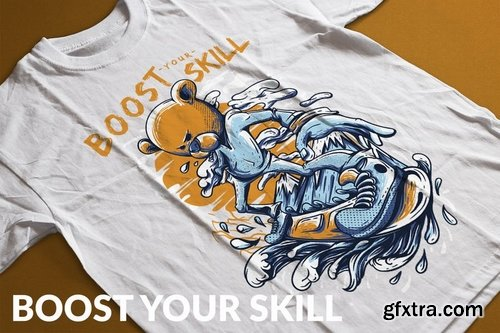 Boost Your Skill T-Shirt Design Template