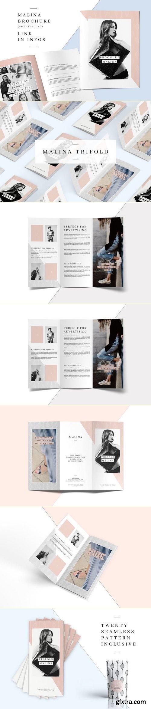 CM - MALINA Trifold Brochure + Pattern 1415320
