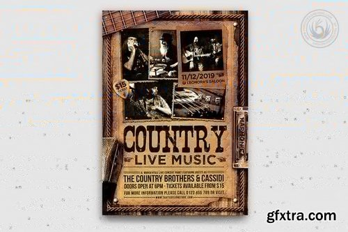 Country Live Flyer Template V3