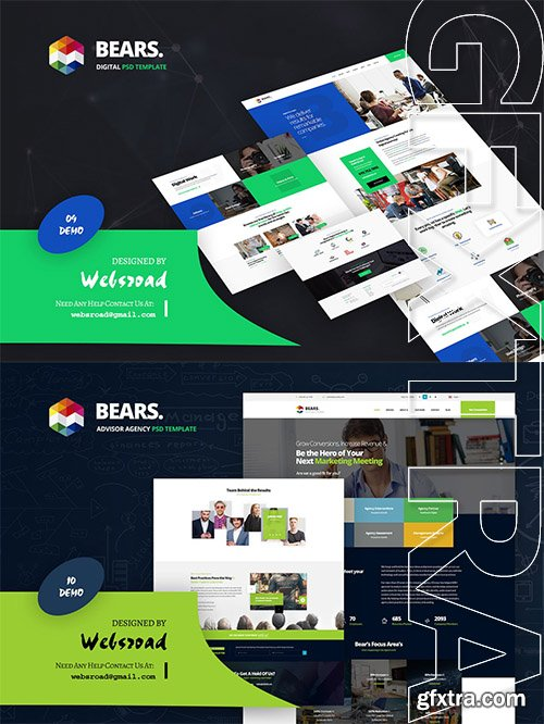 Bear's - Digital and Advisor Agency PSD Template