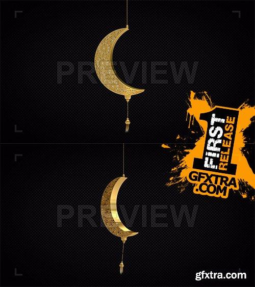 Golden Arabesque Moon Decor 98516