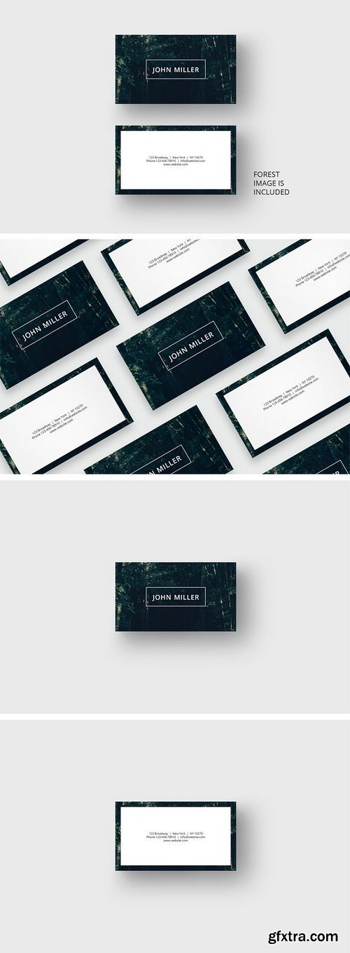 CM - Forest business card template 1689350