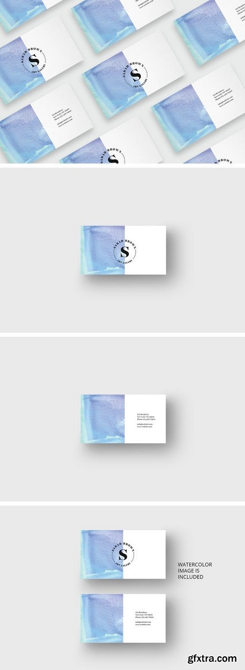 CM - Watercolor business card template 1697624