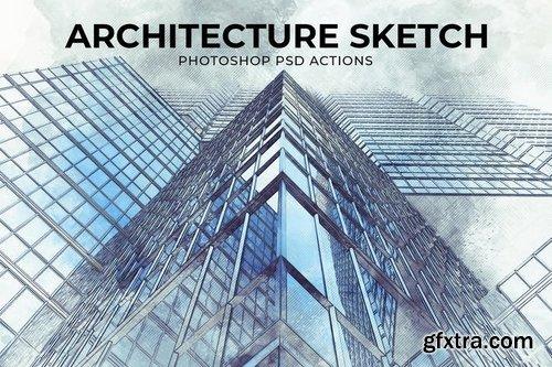 Architecture Sketch Photoshop PSD Action