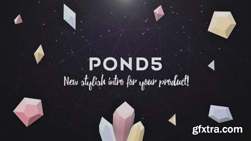 Pond5 - Gemstones Dark Logo Reveal - 066660521