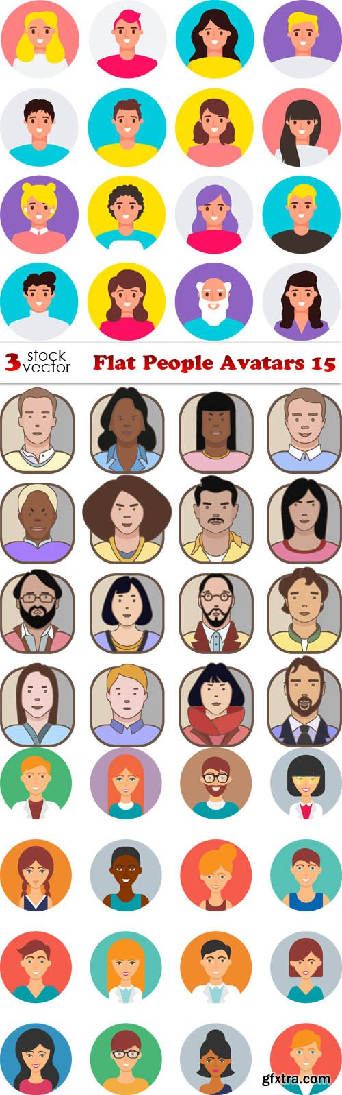 Vectors - Flat People Avatars 15