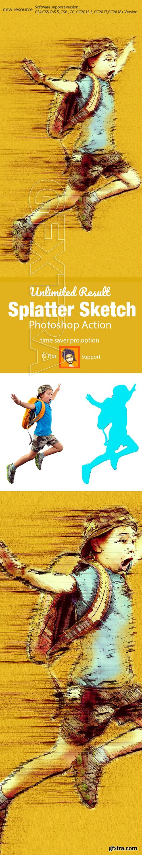 GraphicRiver - Splatter Sketch Photoshop Action 22285398