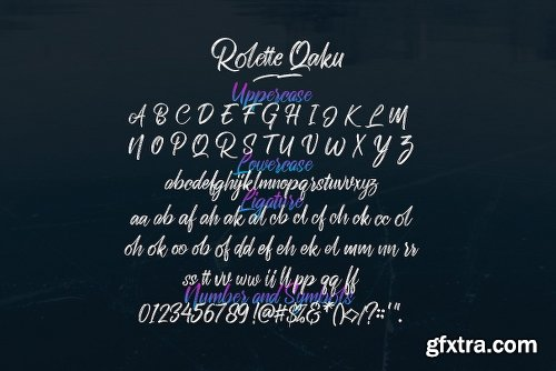 Rollete Qaku SVG & Regular Font Family - 6 Fonts