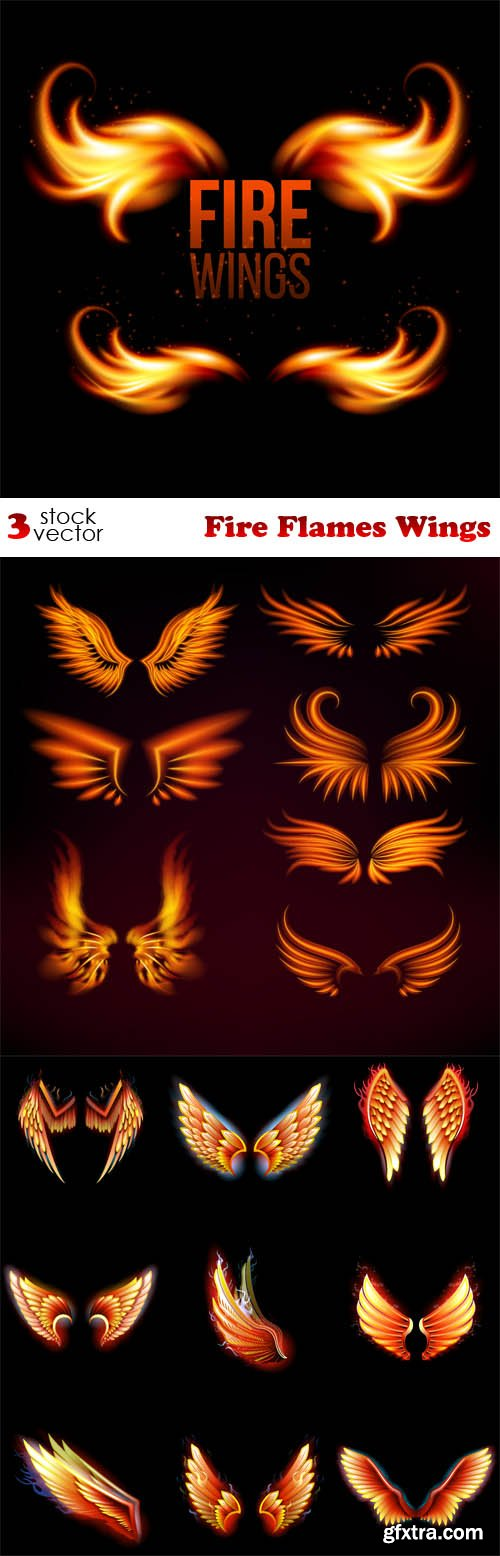 Vectors - Fire Flames Wings