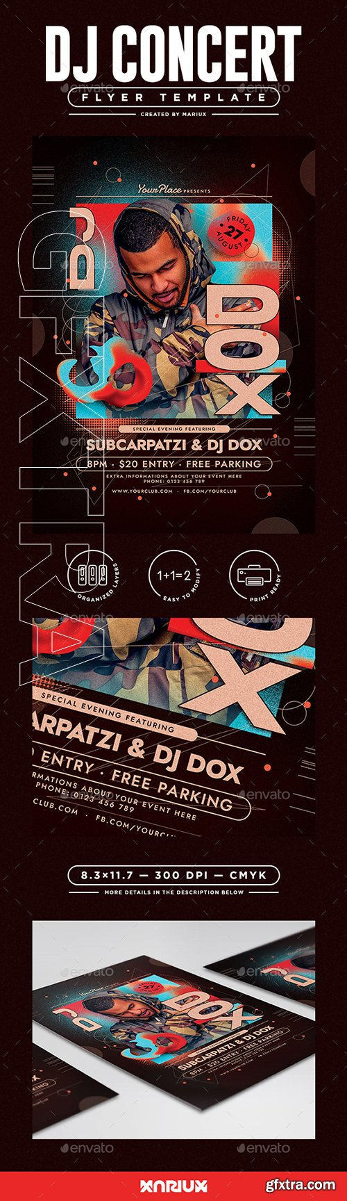 GraphicRiver - DJ Concert Flyer Template 22359175