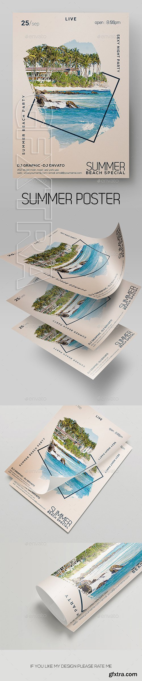 GraphicRiver - Summer Flyer 22359395