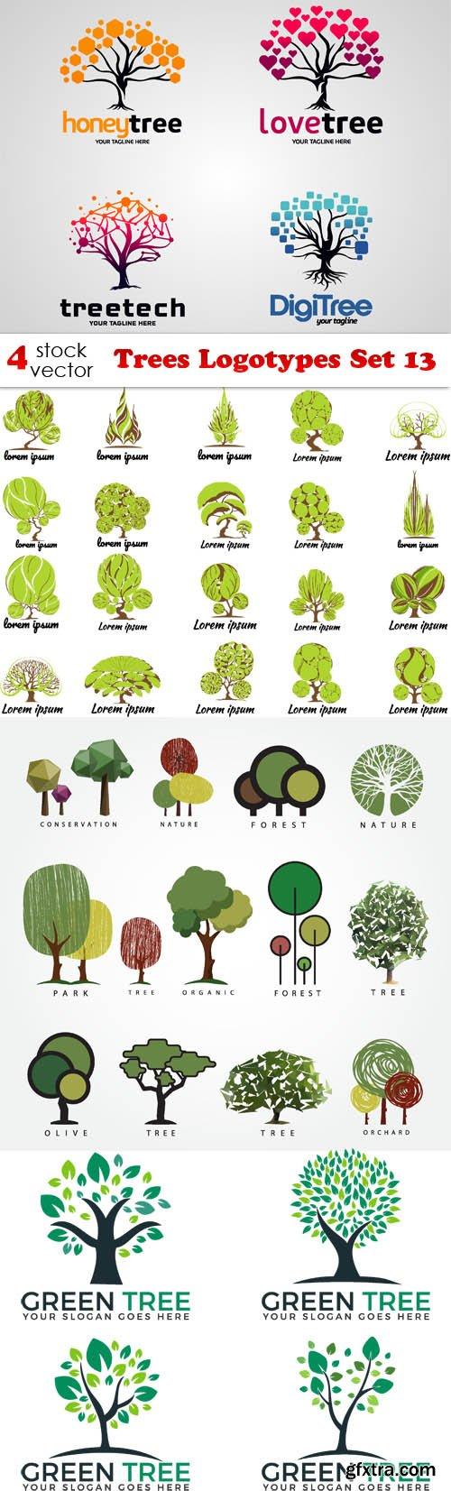 Vectors - Trees Logotypes Set 13