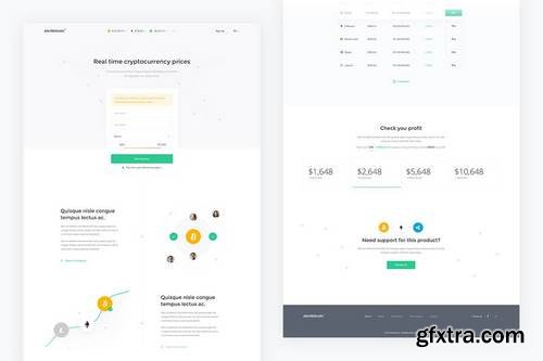 Alertbitcoin — Crypto Landing Page PSD Template
