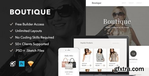 ThemeForest - Boutique v1.0 - Responsive Email + Themebuilder Access - 19501852
