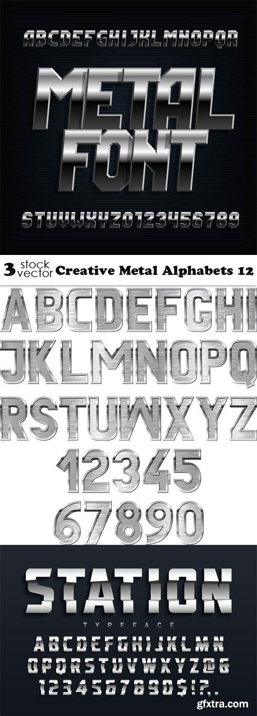 Vectors - Creative Metal Alphabets 12