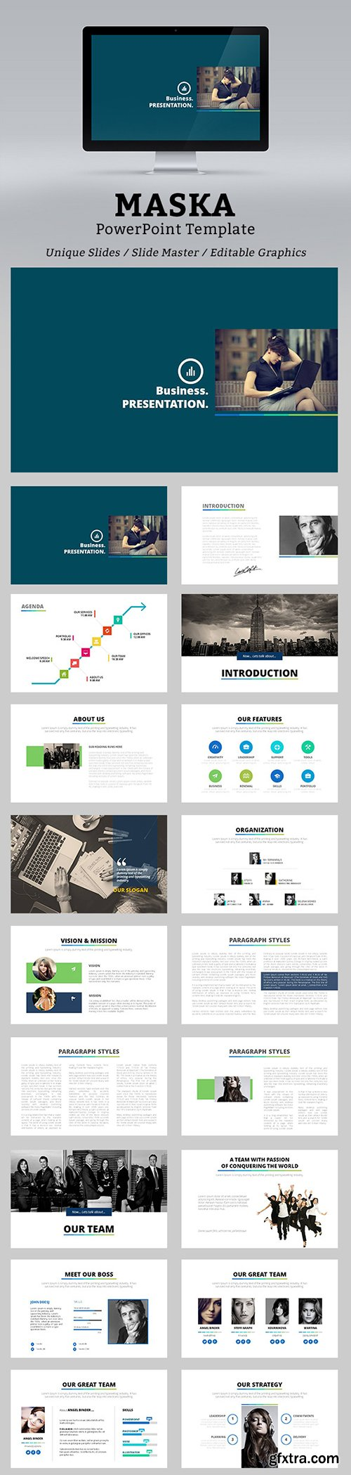 Graphicriver - Maska PowerPoint Template 12957997