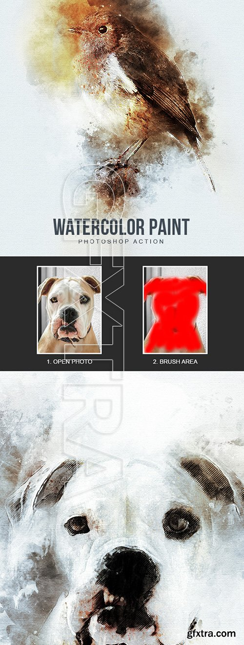 GraphicRiver - WatercolorPaint - Photoshop Action 22341879