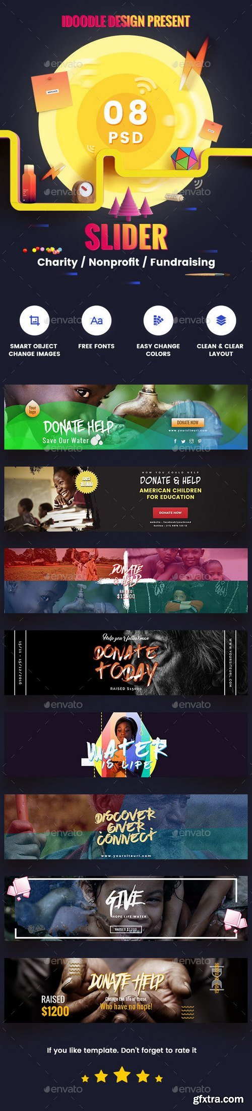 Graphicriver - Charity / Nonprofit / Fundraising Sliders - 08 PSD 18895757