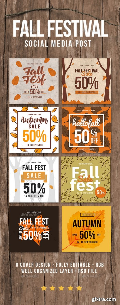 Graphicriver - Fall festival sale instagram post 20561136