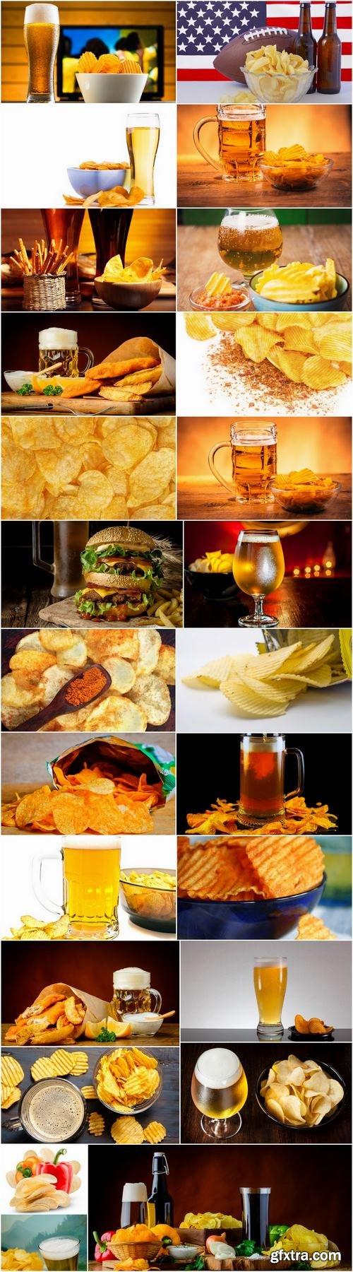 Potato chips beer snack 25 HQ Jpeg