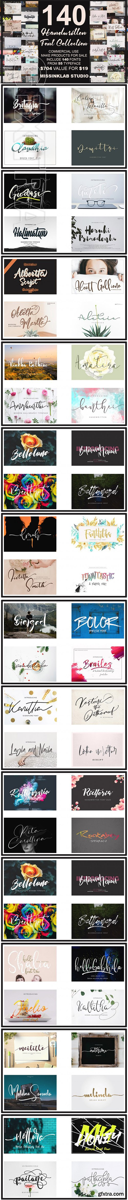 Mega Handwritten Fonts Collection