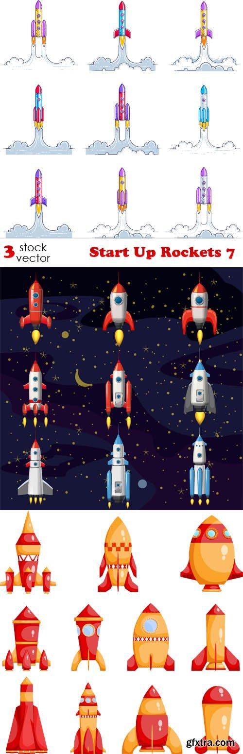 Vectors - Start Up Rockets 7