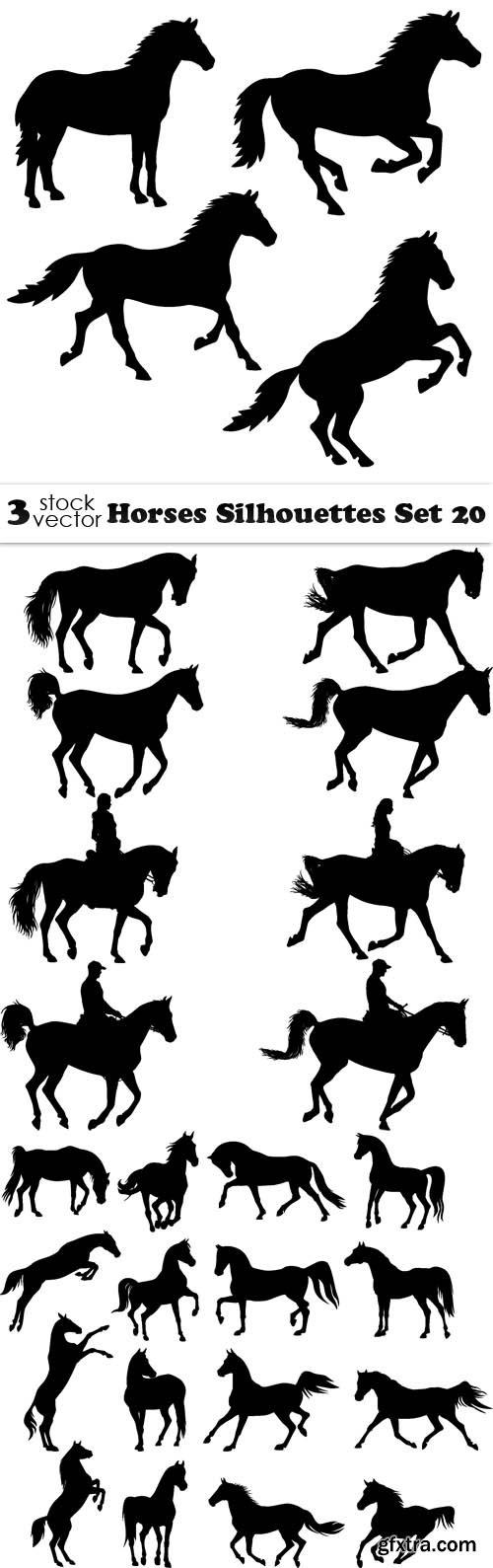 Vectors - Horses Silhouettes Set 20