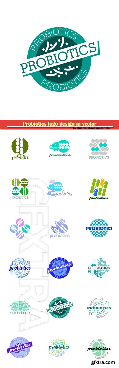 Probiotics logo design in vector illustration