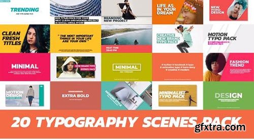 20 Trendy Typography Scenes - Premiere Pro Templates 97068