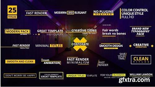 25 Titles Pack - Premiere Pro Templates 95903